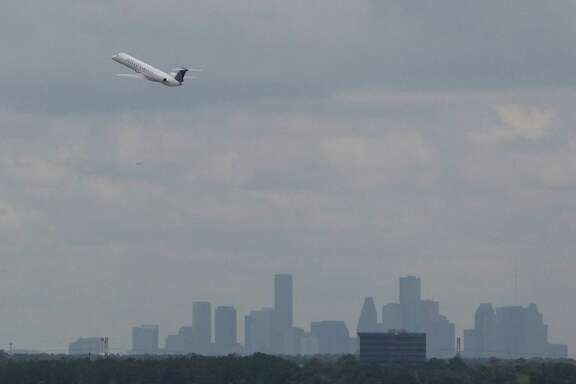A United Airlines flight takes off from Houston George Bush Intercontinental Airport Wednesday June 4, 2014. Bush Intercontinental Airport has changed dramatically since it opened in 1969. (Billy Smith II /Houston Chronicle)