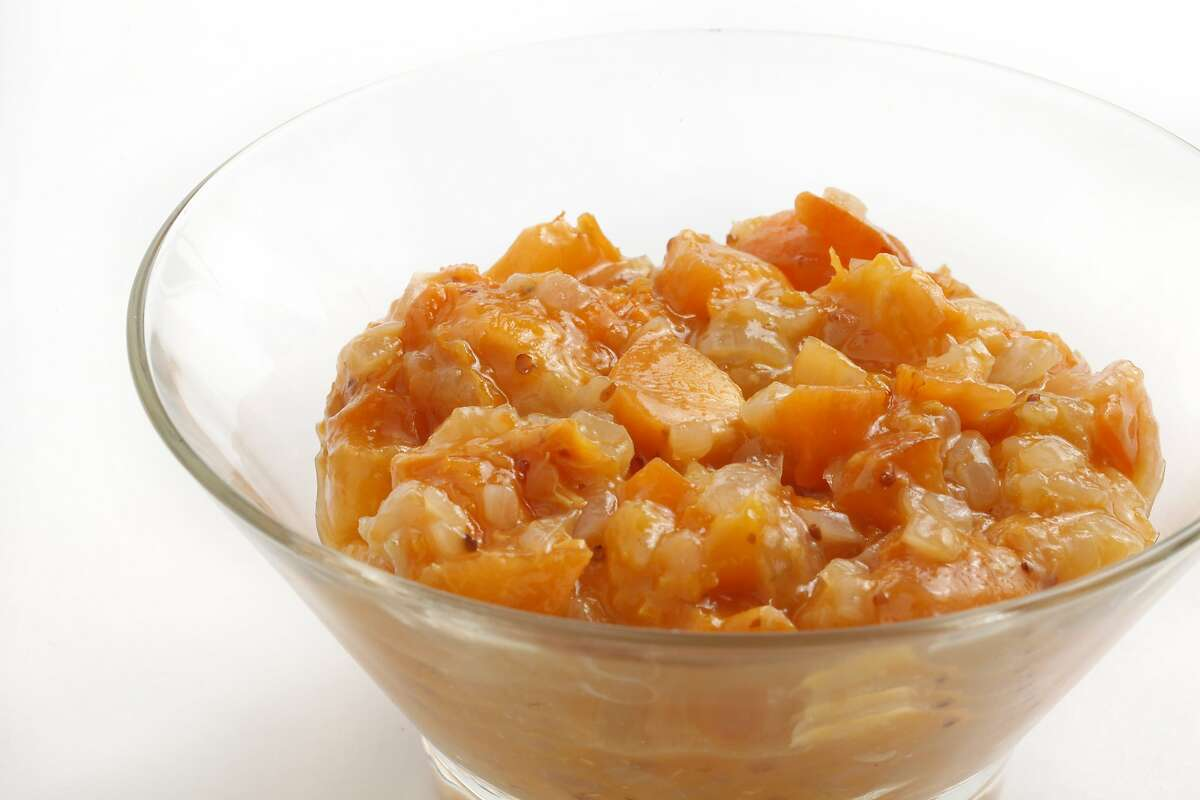 Apricot and Onion Chutney as seen in San Francisco, California on Wednesday, May 29, 2014. Food styled by Lynne Char Bennett.