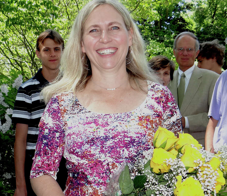 The Rev. Alida Ward was honored by members of Greenfield Hill Congregational Church for 25 years of service to the congregation. Photo: Mike Lauterborn / Fairfield Citizen