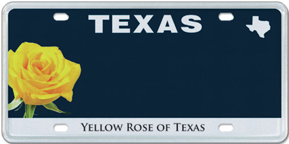 Yellow Rose of Texas plate Photo: MyPlates.com & Texas Department Of Motor Vehicles