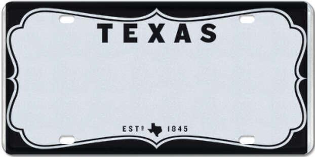 University of Texas license plates makeover San