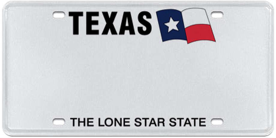 Texas White Photo: MyPlates.com & Texas Department Of Motor Vehicles