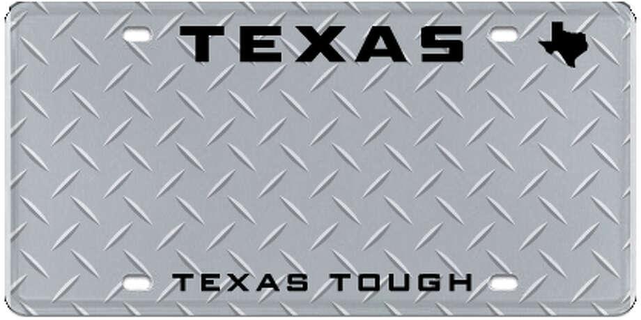 Texas Tough Photo: MyPlates.com & Texas Department Of Motor Vehicles