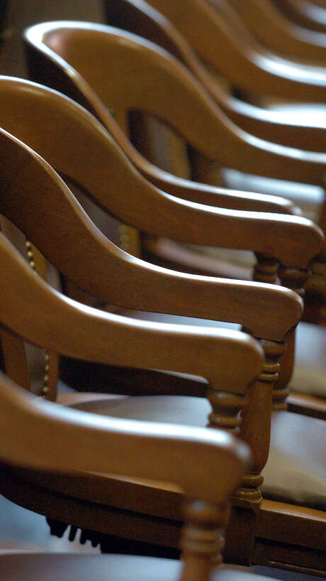 A jury box sits empty. Photo: Express-News File Photo / SAN ANTONIO EXPRESS-NEWS