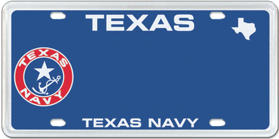 Texas Navy Photo: MyPlates.com & Texas Department Of Motor Vehicles