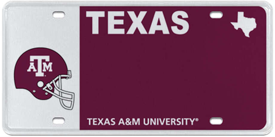 Texas A&M University (various designs available) Photo: MyPlates.com & Texas Department Of Motor Vehicles