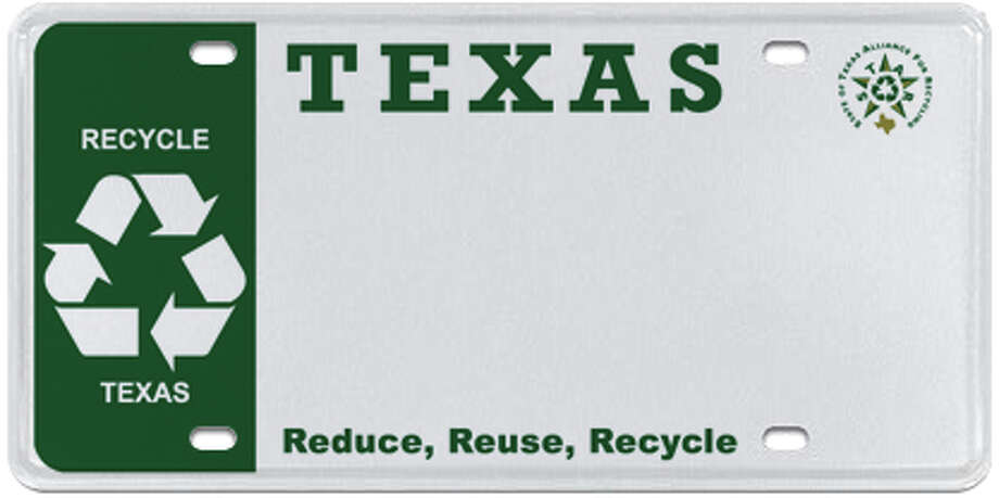 State of Texas Alliance for Recycling Photo: MyPlates.com & Texas Department Of Motor Vehicles