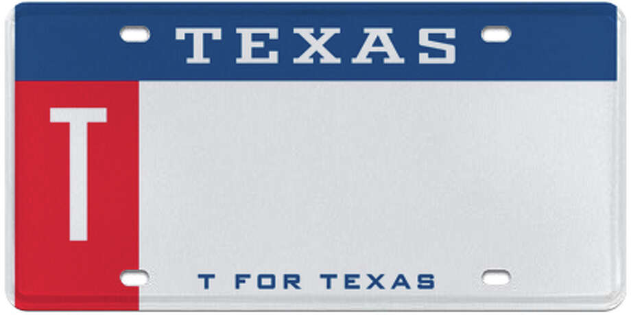 T for Texas (Red/White/Blue) Photo: MyPlates.com & Texas Department Of Motor Vehicles