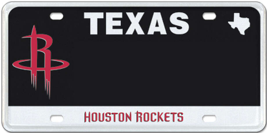 Houston Rockets Photo: MyPlates.com & Texas Department Of Motor Vehicles