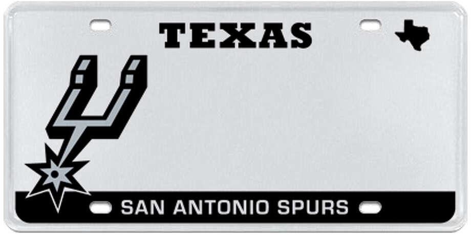 San Antonio Spurs Photo: MyPlates.com & Texas Department Of Motor Vehicles