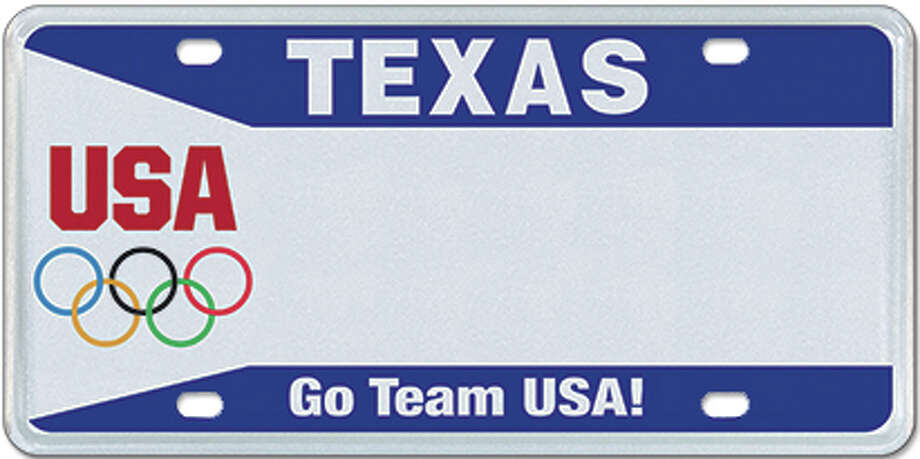 Olympic Photo: MyPlates.com & Texas Department Of Motor Vehicles