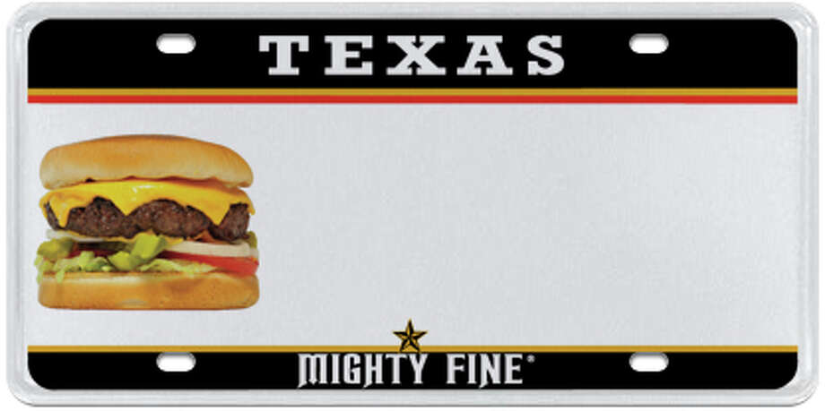 Mighty Fine Burgers Photo: MyPlates.com & Texas Department Of Motor Vehicles
