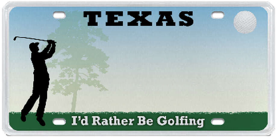I'd Rather Be Golfing Photo: MyPlates.com & Texas Department Of Motor Vehicles