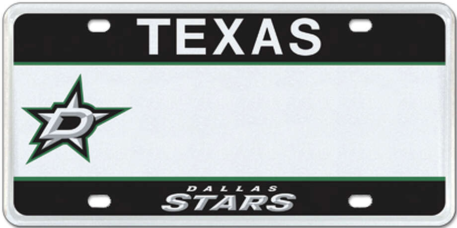 Dallas Stars Photo: MyPlates.com & Texas Department Of Motor Vehicles