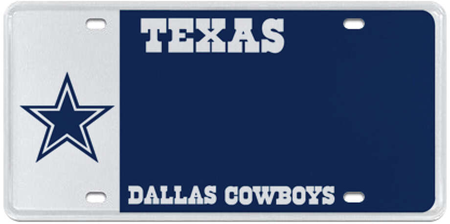 Dallas Cowboys (various styles available) Photo: MyPlates.com & Texas Department Of Motor Vehicles