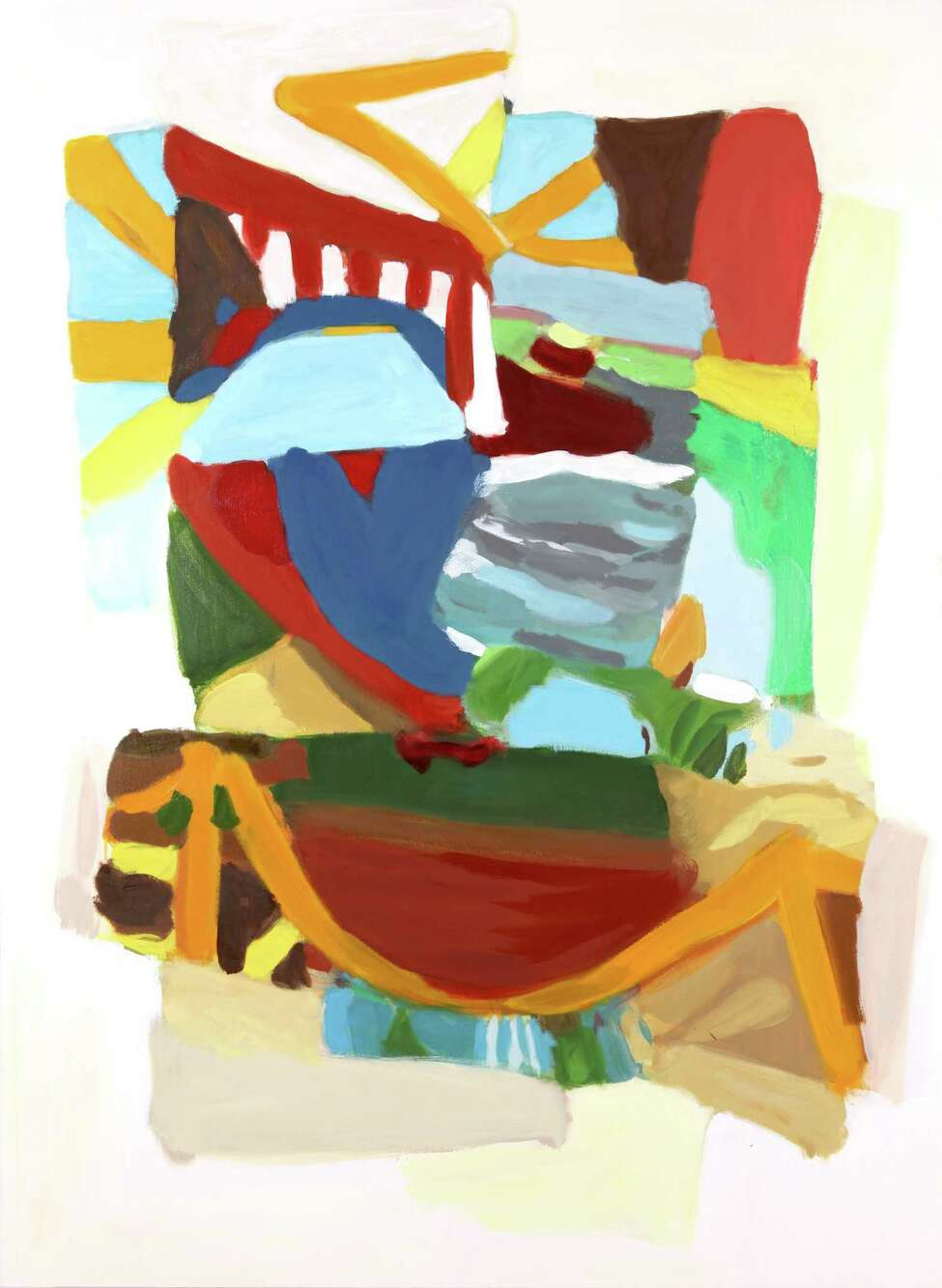 Nicole Parcher, Rock Me Baby, 2014, oil on canvas, 54 x 30 inches, courtesy of the artist