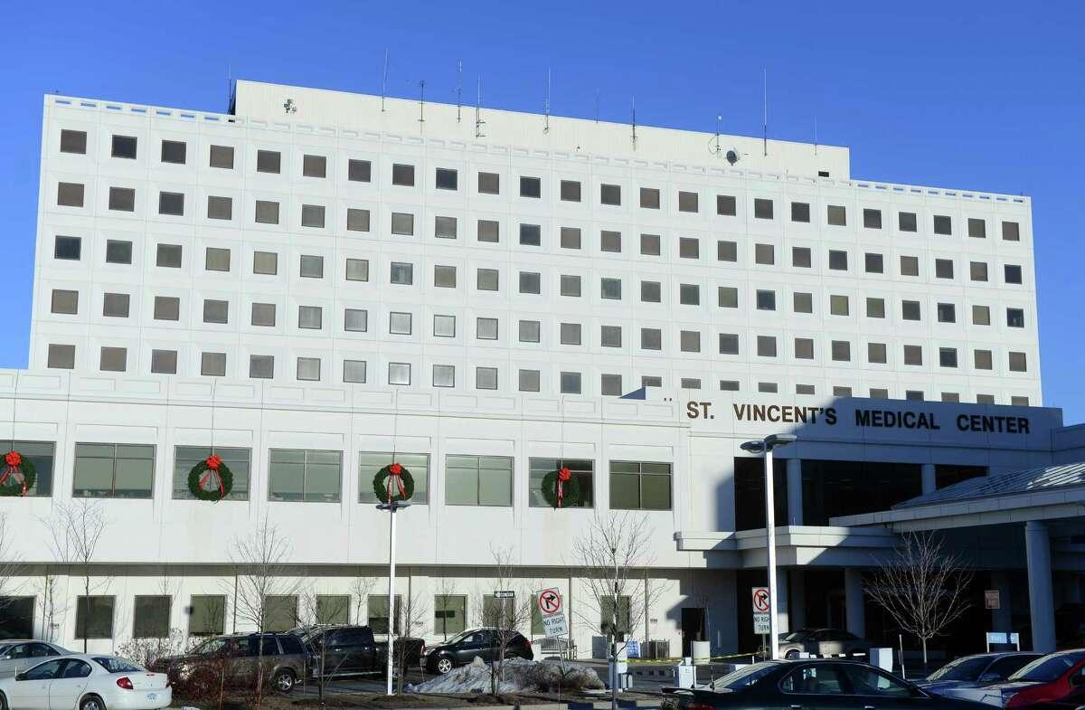 Exterior of St. Vincent Medical Center in Bridgeport, Conn..