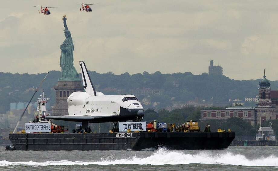 A reader says that NASA's space shuttle program, which included the Enterprise, shouldn't have been retired without a replacement system in place. Photo: Associated Press File Photo / AP