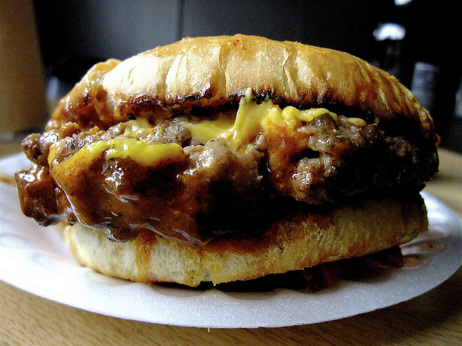 3) Peanut butter on a cheeseburger Photo: Alison Cook, Houston Chronicle