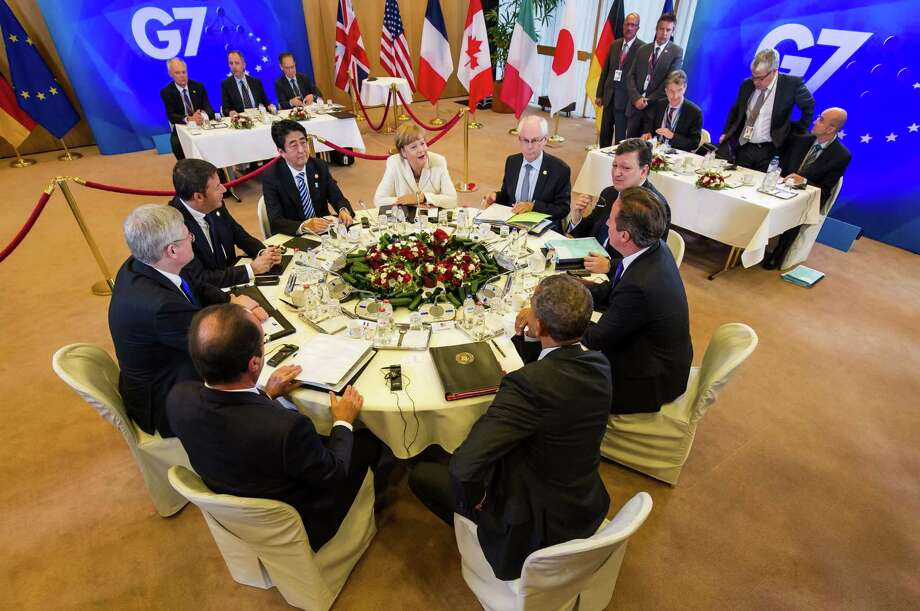 The leaders of the G-7 group of major economies center their effort during the concluding day of their summit on spurring growth and jobs in an attempt to reinforce a rebound from the global financial crisis. Photo: Geert Vanden Wijngaert, STR / AP