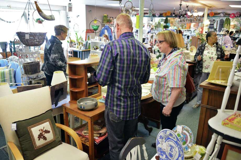 Shoppers at Something Olde, Something New Tuesday, May 13, 2014, in Slingerlands, N.Y.  (John Carl D'Annibale / Times Union) Photo: John Carl D'Annibale / 00026832A