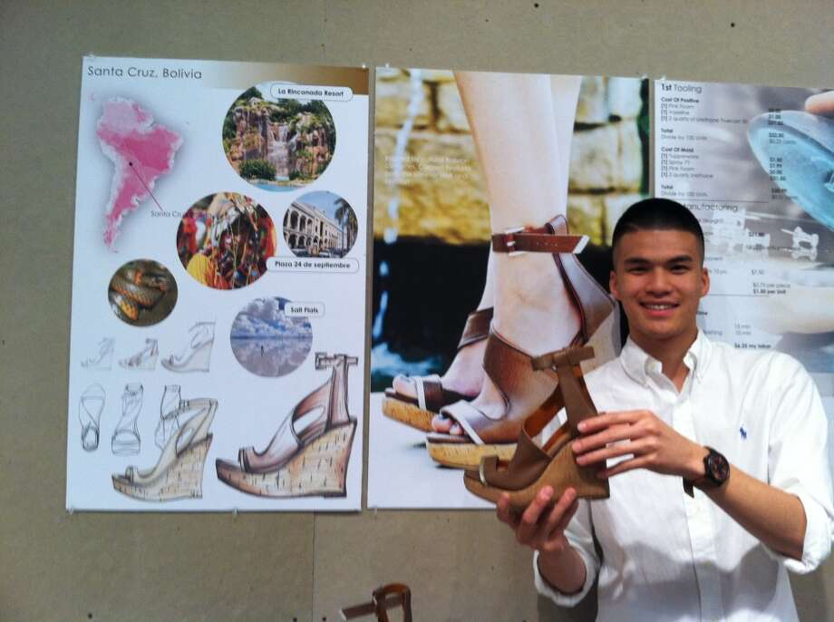 Jason Yang is one of two University of Houston students who won a summer internship with accessory designer Elaine Turner.