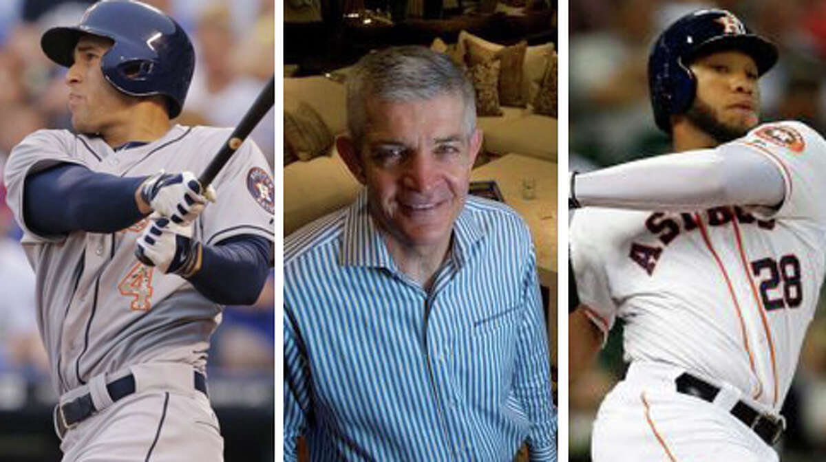 """Houston's two rookie sensations George Springer (left) and Jon Singleton (right) could mean a major loss for the city's gamblin' man furniture store owner Jim """"Mattress Mack"""" McIngvale. The owner of the Gallery Furniture store chain bet customers $4 million worth of merchandise that the Astros would win fewer than 63 games this season."""