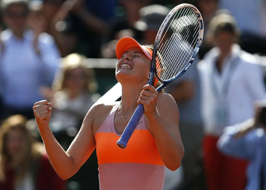 Maria Sharapova is enthused about reaching the French Open final again. She beat Eugenie Bouchard in a semifinal. Photo: Darko Vojinovic, Associated Press