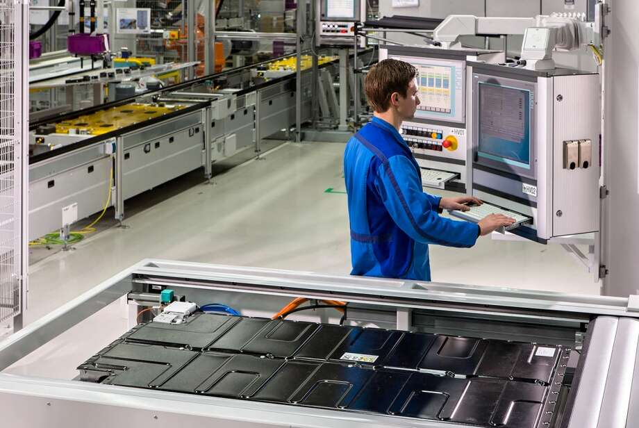A look at BMW i3  and i8 production at the BMW plant in Leipzig, Germany. Photo: Harry Zdera