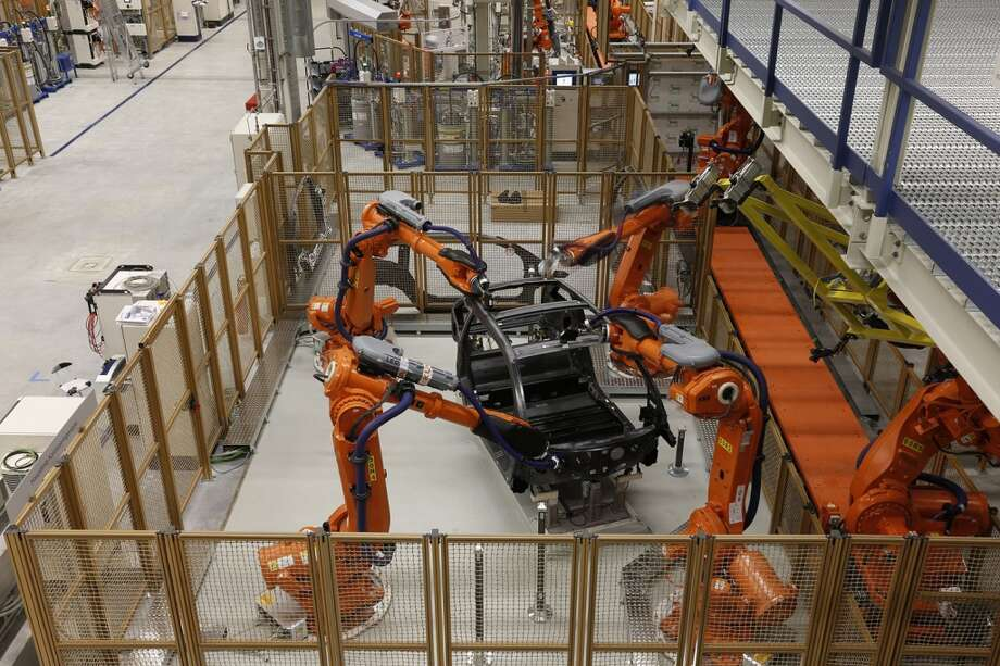 A look at BMW i3  and i8 production at the BMW plant in Leipzig, Germany.