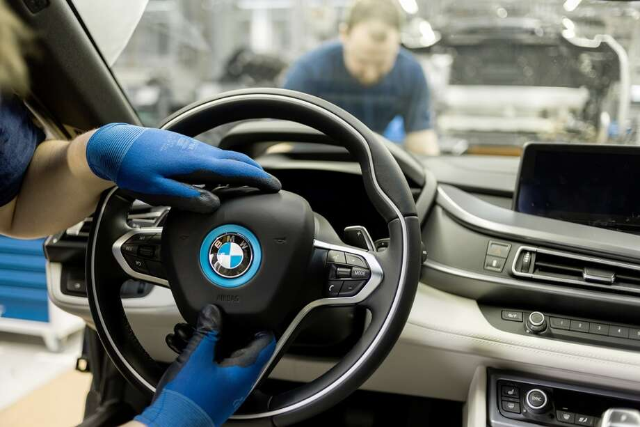 A look at BMW i3  and i8 production at the BMW plant in Leipzig, Germany. Photo: Christoph Busse