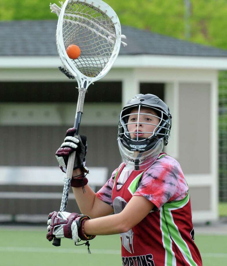 Goalie Lexie Ball during the Burnt Hills girls' lacrosse team practice for their Class B state semifinal  Wednesday, June 4, 2014, at Union College in Schenectady, N.Y.  (Michael P. Farrell/Times Union) Photo: Michael P. Farrell / 00027186A