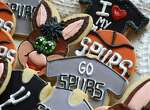 Lily's Cookies has an assortment of Spurs-related sweets on Thursday, June 5, 2014. The hometown San Antonio Spurs are playing the Miami Heat for the NBA basketball championship this month.