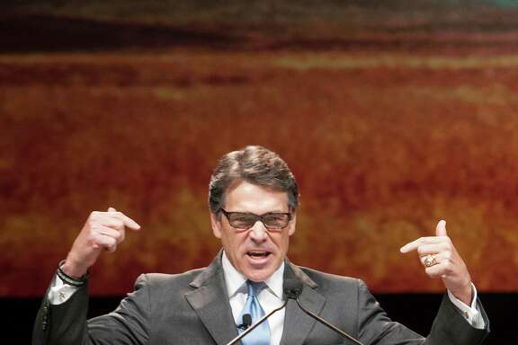 """We're too good a country to wander through the wilderness of economic darkness. We must seize our promise at home,"" said Gov. Rick Perry on Thursday."