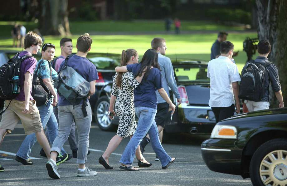 Students are evacuated after a shooting at Seattle Pacific University on Thursday, June 5, 2014. Photo: JOSHUA TRUJILLO, SEATTLEPI.COM / SEATTLEPI.COM