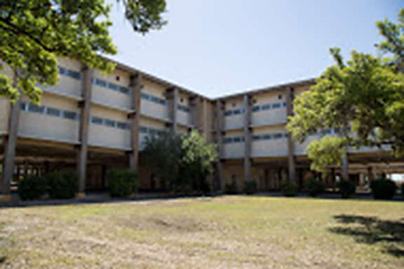 This Lackland Air Force Base dormitory is being used for children who crossed the border alone.