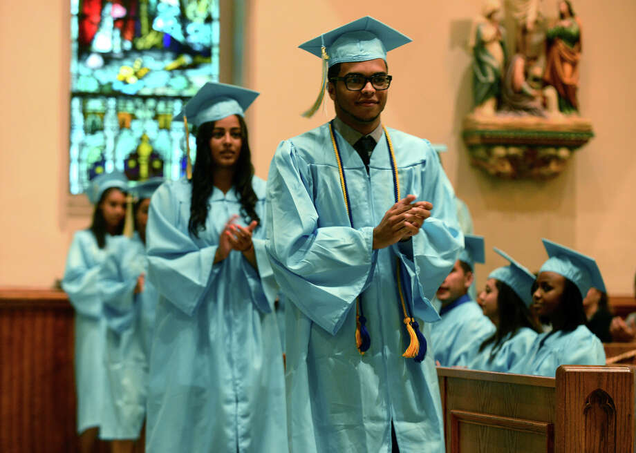 Kolbe Cathedral's Class of 2014 Commencement Exercises at St. Augustine Cathedral in Bridgeport, Conn. on Thursday June 5, 2014. Photo: Christian Abraham / Connecticut Post