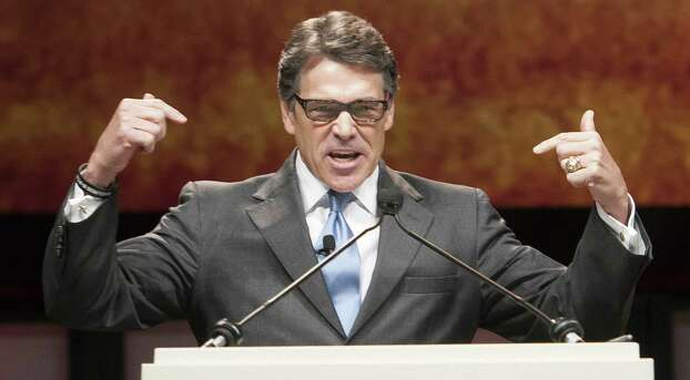 """I trust those independent school districts to make those decisions better than eight unelected and, frankly, unaccountable judges."" –Rick Perry, getting the number of Supreme Court justices wrong (there are nine). Photo: Rex C. Curry, Associated Press / FR41626AP"