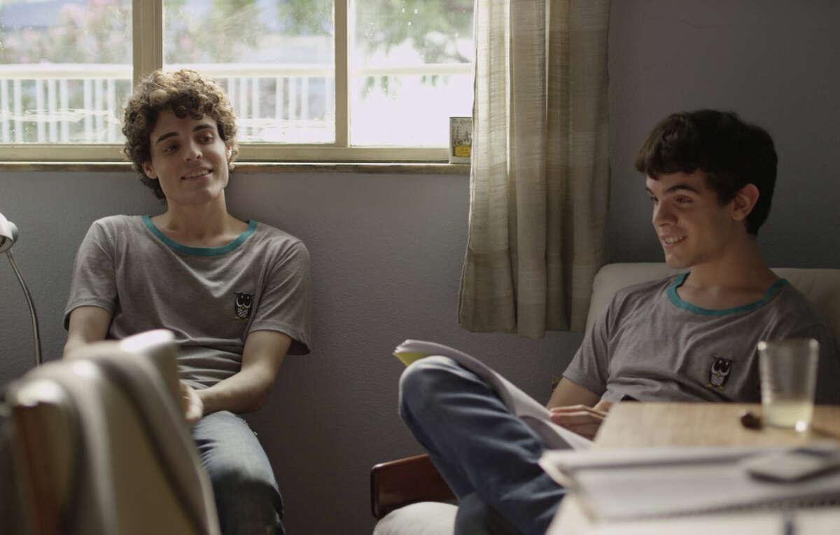 Fabio Audi as Gabriel (left) and Ghilherme Lobo as Leo find their friendship growing in