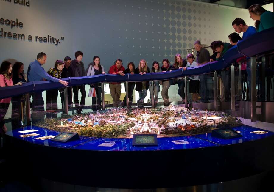 Study the 'Disney of Walt's Imagination' model at the Walt Disney Family Museum in the Presidio. This offers a look at the attractions Disney originally envisioned for Disneyland. Photo: The Walt Disney Family Museum