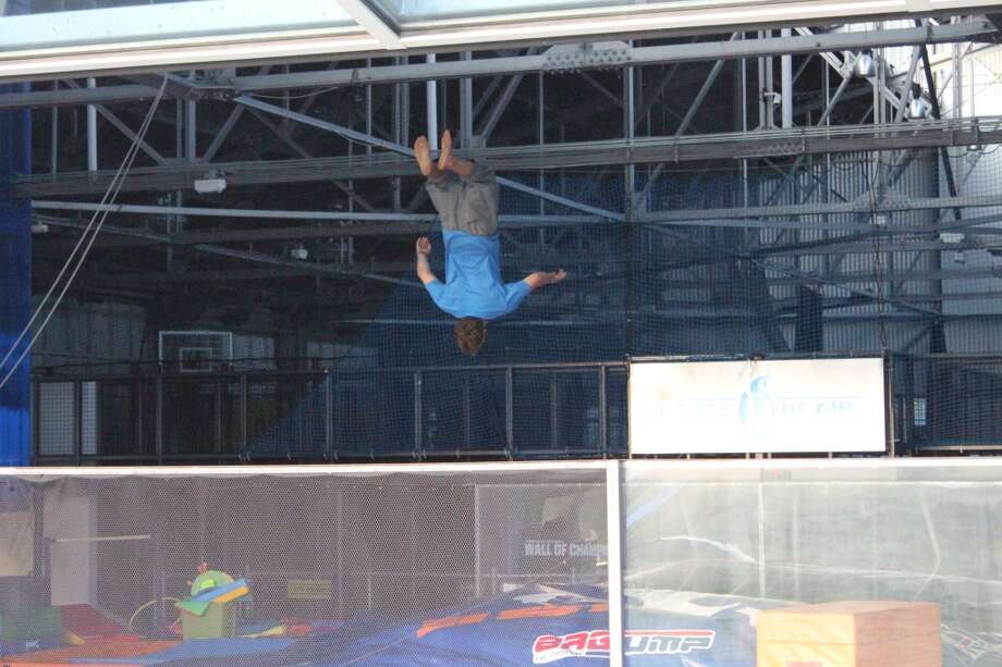 Jump for joy at the House of Air indoor trampoline park in the Presidio.
