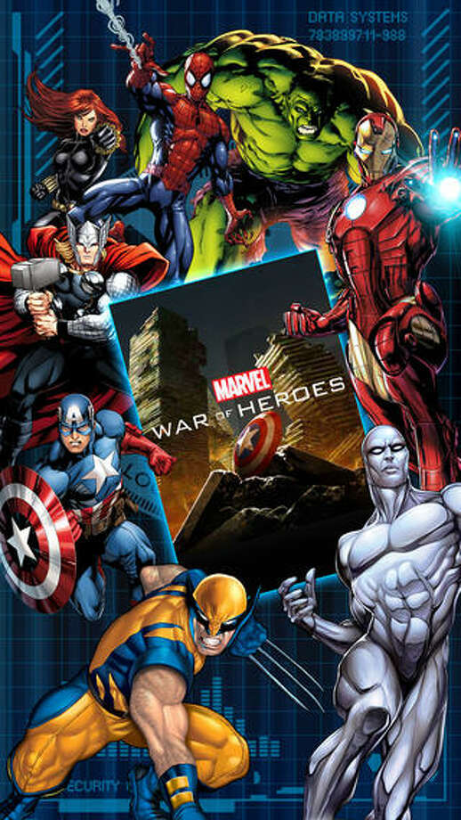 """17. Marvel War of HeroesDaily revenue estimate: $62,508 Daily active users: 141,584    War of Heroes is a card battle game featuring Spider-Man, Hulk, Iron Man, Thor, and more. Players can connect with other online players to fight battle enemies. The top in-app purchase is """"Satchel of 305 Gold"""" for $2.99. Photo: Mobage, Inc."""