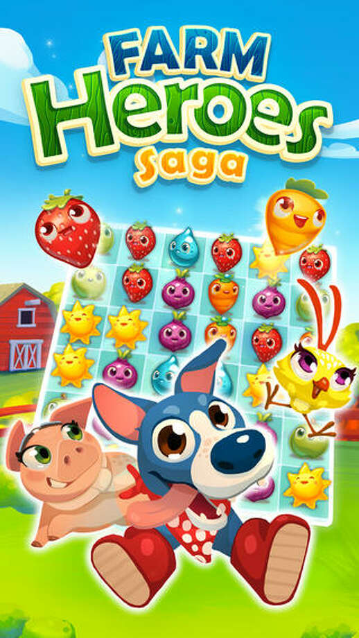 "4. Farm Heroes Saga Daily revenue estimate: $276,751 Daily active users: 1,743,387 | This farm-themed game challenges players to match three ""cropsies,"" or blocks representing a strawberry, carrot, or apple, before Rancid the Raccoon attacks. The top in-app purchase is ""XS Gold Bars pakcage"" for 99 cents. Photo: King.com Limited"