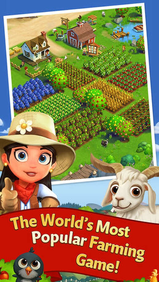 "20. FarmVille 2: Country EscapeDaily revenue estimate: $53,265 Daily active users: NA | The first of several farm-themed apps on this list, FarmVille 2 features a range of fruits and vegetables, farm animals, and coastal escapes. The top in-app purchase is ""Pile of Keys"" for $1.99. Photo: Zynga Inc."