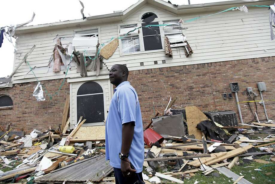 If you own one of the 13,286 homes, worth $2.6 billion, in  Forney, Texas, you have to expect the occasional tornado. Photo: Tony Gutierrez, Associated Press