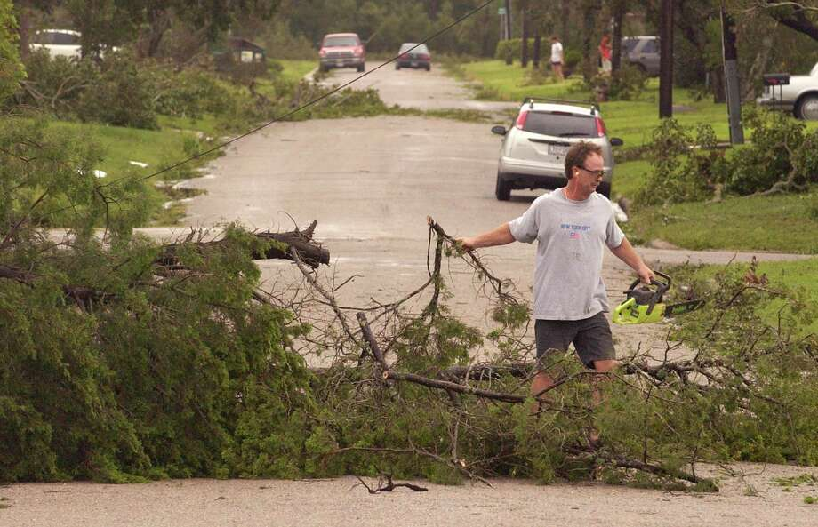 "Landfall Point:Port Lavaca (see on Google Maps)Estimated Insurance Industry Losses: $5-$10 billion (Source: The 100 Year Hurricane,"" Karen Clark & Company risk assessment) Photo: Karl Stolleis, Houston Chronicle / Houston Chronicle"