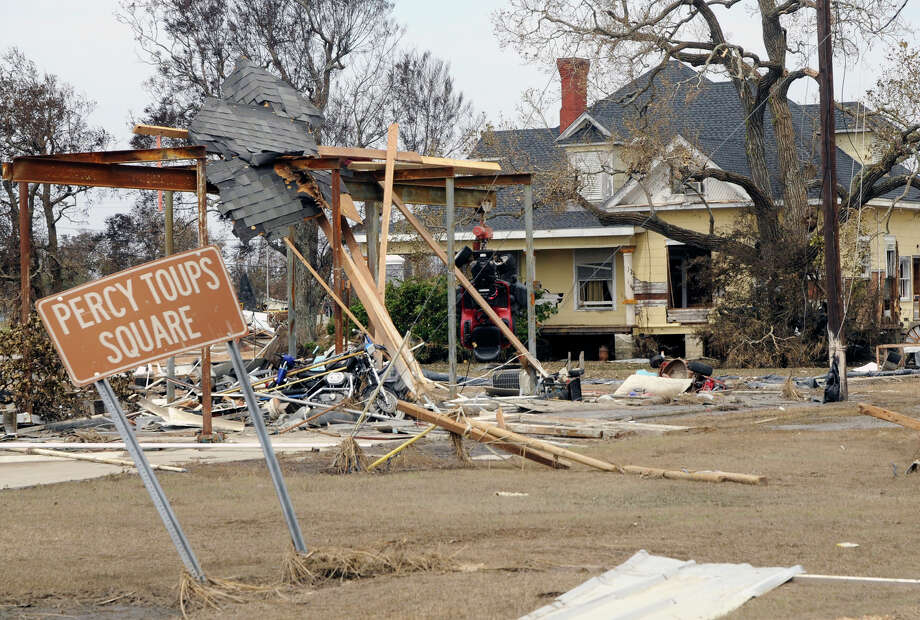 """Landfall Point:Sabine Pass (see on Google Maps)Estimated Insurance Industry Losses: $15-$20 billion(Source: The 100 Year Hurricane,"""" Karen Clark & Company risk assessment) Photo: Handout, Houston Chronicle / 2008 DHS"""