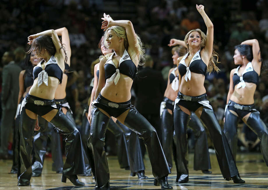 Spurs Silver Dancers in action - San Antonio Express-News