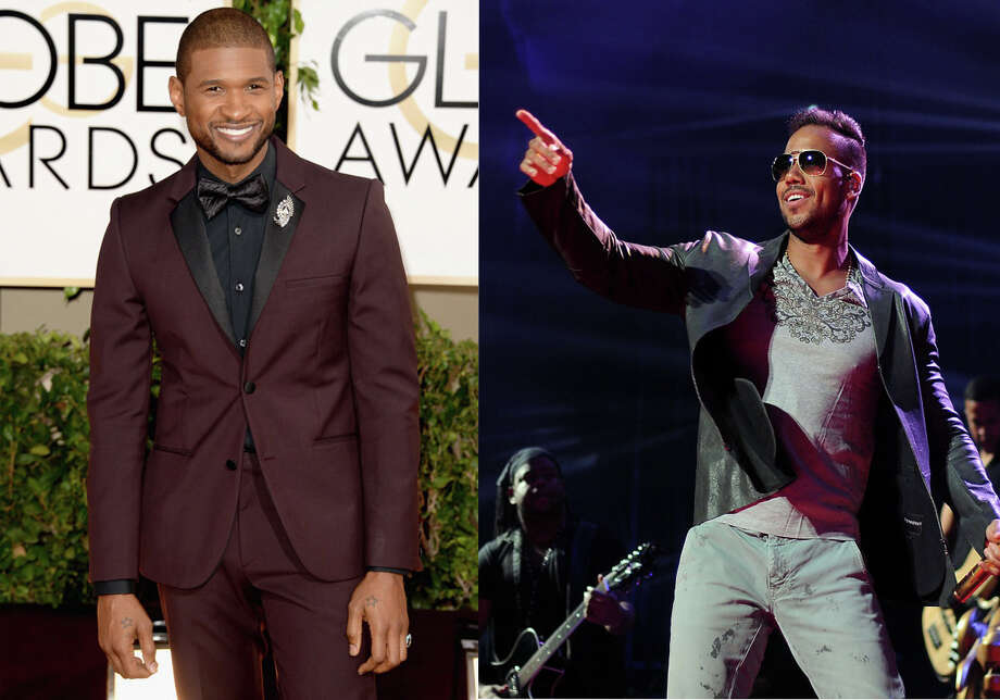 """Romeo Santos sold out two shows recently at the Toyota center. He traditionally focuses on bachata, a sort of Hispanic style waltz. For """"Promise"""" he included Usher in his signature rhythm to make an interesting fusion of styles. Here are more Latin and American artists who have done duets.Romeo Santos and Usher""""Promise"""" Photo: None"""