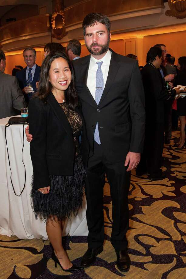 Cynthia Fong and Darin Enferadi at Jumpstart Scribbles to Novels at The Fairmont San Francisco on May 31, 2014 Photo: Laura Morton For Drew Altizer, Drew Altizer Photography / Drew Altizer Photography